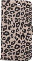 Mobigear Wallet Book Case Leopard Yellow iPhone 7 Plus / 8 Plus