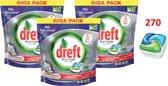 Dreft Platinum Regular - All in one - 3 x 90 (270) Stuks - Vaatwastabletten - voordeelverpakking