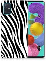 Samsung Galaxy A51 TPU Hoesje Zebra