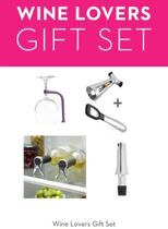 Quirky Wine Lovers Gift Set - 9 delig wijn geschenkset met kurkentrekker, wijnflesstop,  magnetische opener,  citrussprayer en wijnglashouder