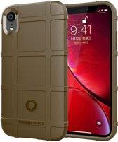 Full Coverage Shockproof TPU Case voor iPhone XR (bruin)