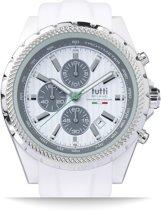 Tutti Milano TM005WH- Horloge -  48 mm - Wit - Collectie Meteora
