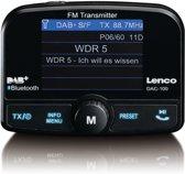 Lenco DAC-100 - Carkit met DAB+ ontvanger en Bluetooth - Zwart