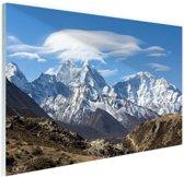 Uitzicht op de Himalaya Glas 90x60 cm - Foto print op Glas (Plexiglas wanddecoratie)