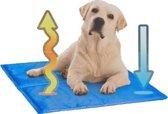 Koelmat voor je hond lichtlbauw 50-60 cm