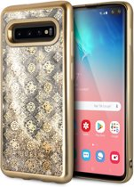 Samsung Galaxy S10+ Backcase hoesje - Guess - Effen Goud - TPU