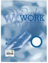 Work schrijfblok A4, lijn, 70-grams, 100 vel
