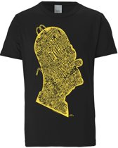 Logoshirt T-Shirt Homer - Head In Words - The Simpsons