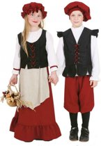 Middeleeuws meisjes kostuum 140