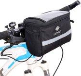 XL Fiets Stuurtas - Fietstas Stuur Met Smartphone Houder & Kaartlezer (Kaarthouder) - Zwart
