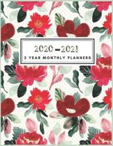 2 Year Monthly Planner 2020-2021: Colorful Watercolor Planner: 2 year planner 2020-2021 monthly 8.5 x 11 - Planners - Planner 2020-2021 - Planner Mont