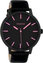 OOZOO Timepieces Zwart/Roze horloge  (45 mm) - Zwart