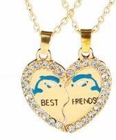 Fako Bijoux® - Vriendschapsketting - Best Friends - Dolfijn - Goudkleurig