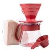 Hario V60 Dripper Set 01 ceramic Red