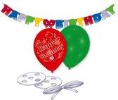 Latex Balloon Decoration Kit Happy Birthday