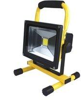 QY 20 W LED Bouwlamp Floodlight Outdoor - 40 LED's - 1800 Lumen Daglicht – oplaadbaar– inclusief adapter