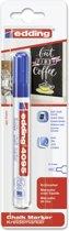 Edding - Krijtmarker e-4095 - Op blister - Blauw