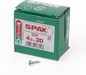 Spax Spaanplaatschroef cilinderkop verzinkt T-Star T20 4.5x20mm (per 200 stuks)