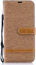 Samsung Galaxy A50 Hoesje - Denim Book Case - Khaki