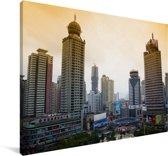 Skyline van de oude militaire stad Guiyang in China Canvas 60x40 cm - Foto print op Canvas schilderij (Wanddecoratie woonkamer / slaapkamer)