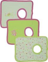 Bianco Blu Babies Slabber per 3 Roze-DNB07013B Maten: Een maat