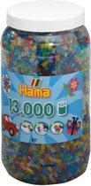 Hama Strijkkralen met glitters in een ton - 13000 Stuks - 5 mm