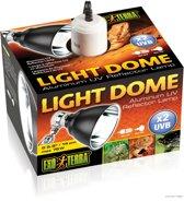 Exo terra light dome - 14x18.5x14cm Terrariumverlichting - Zwart