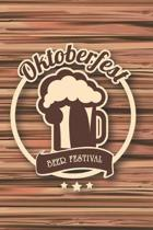 Oktoberfest: College Ruled Notebook Journal, 6x9 Inch, 120 Pages