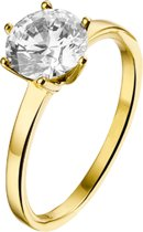 The Jewelry Collection Ring Zirkonia - Geelgoud