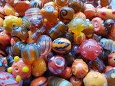 Glaskralen Oranje mix ca. 1000 gram