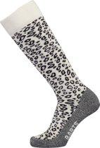 Barts Skisock Animal Print Unisex Skisokken - White - Maat 39-42