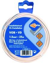 PROFILE installatiedraad VOB (België) VD (Nederland) - 1,5mm² - wit - 25 meter