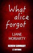 What Alice Forgot by Liane Moriarty - Review Summary