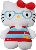Hello Kitty Pluchen Knuffel 25 Cm Rood/blauw
