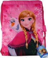 Frozen ANNA & Olaf Zwemtas School Tas Sport Tas Roze Lief