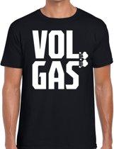 Zwarte Cross vol gas t-shirt - zwart Achterhoek festival shirt voor heren - zwarte cross S