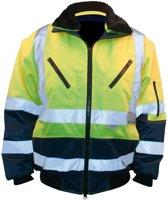 M-Wear pilotjack EN 471 0962 fluo geel/marineblauw maat M
