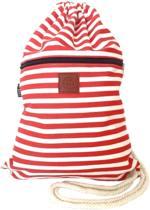 Rugtas Stripes Red| T-Bags | 100% Katoen | 14 Liter | Rood | Comfortabel