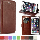 KDS Smooth wallet hoesje iPhone 6 Plus bruin