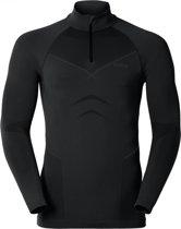 Odlo Evolution Warm - Sportshirt - Heren - Zwart - Maat S