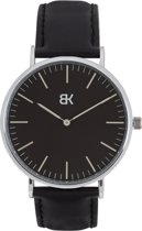 BK AMSTERDAM - Classic Black Dam Horloge