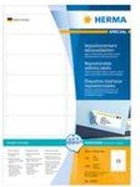 HERMA Adres etiketten A4 wit 99,1x33,8 mm 1600 St.