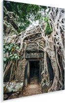 Ruïnes in Angkor wat Plexiglas 120x180 cm - Foto print op Glas (Plexiglas wanddecoratie) XXL / Groot formaat!