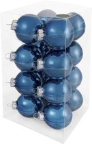 Decosy Glas Kerstballen (8cm) Box 16 Stuks Petrol