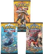 3 Pakjes Pokemon Kaarten Sun & Moon Booster