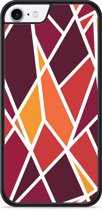 iPhone 8 Hardcase hoesje Colorful Triangles