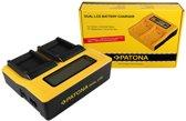 PATONA Dual LCD USB Charger for Samsung SLB-0937 Digimax CL5 L730 L830 NV33 NV4 PL10