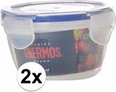 2x stuks Thermos airtight vershoud doosjes/bakjes rond 220 ml