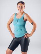 Sport Tanktop Vrouwen Blauw - Workout Empire Rib