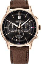 Tommy Hilfiger TH1791631 Horloge  - Leer - Bruin - Ø  44 mm